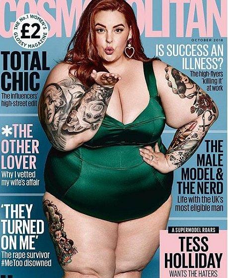 Tess Holliday to dotáhla až na obálku Cosmopolitanu