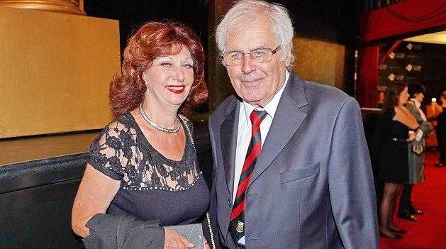 Saskia Burešová s manželem.