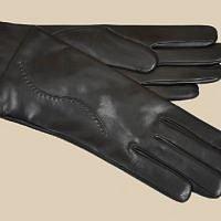 Černé rukavice z jehněčiny