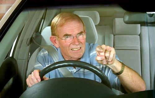 Rozlobený řidič