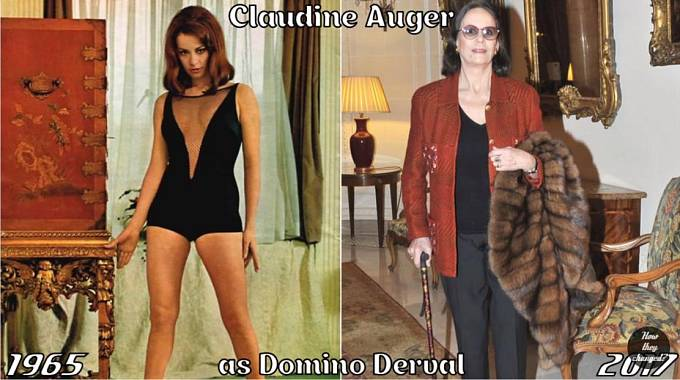 Herečka Claudine Auger coby Domino Derval