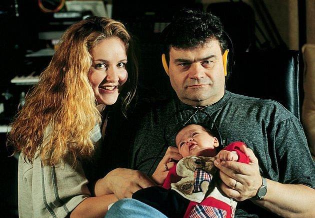 Vendula s Karlem Svobodou a dcerou Klárkou