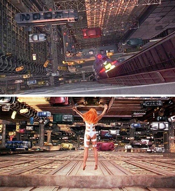 5. element: Nejdříve pohled hlavní hrdinky pod sebe a po té její skok. Ovšem pokaždé jde o dvě zcela rozdílné oblasti.