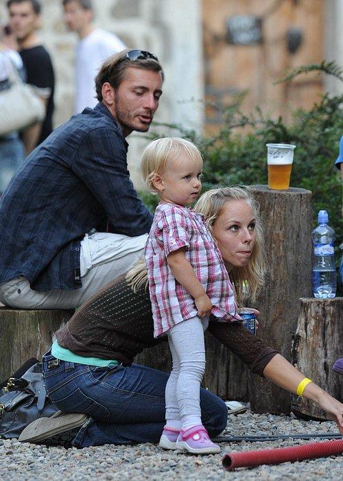 Petr Vondráček s rodinou