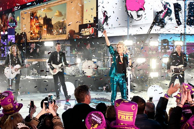 Oslavy na Time Square