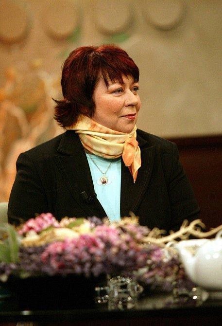 Paní Zuzana ve studiu při pořadu Prima jízda 7. 2. 2006