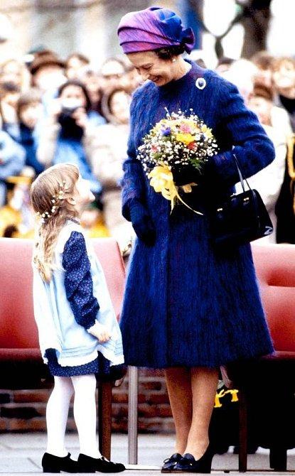Květiny jsou pro královnu nejvděčnějším dárkem.