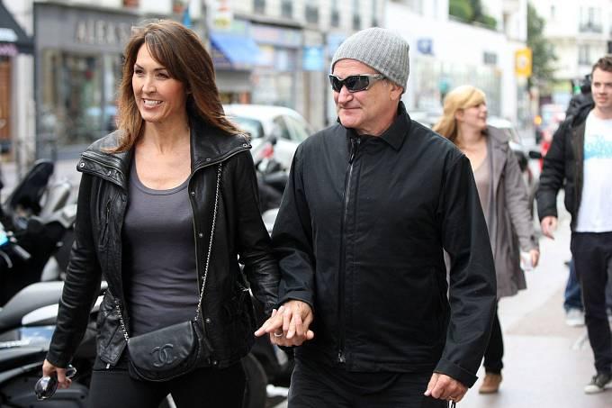 Robin Williams se svou poslední manželkou.