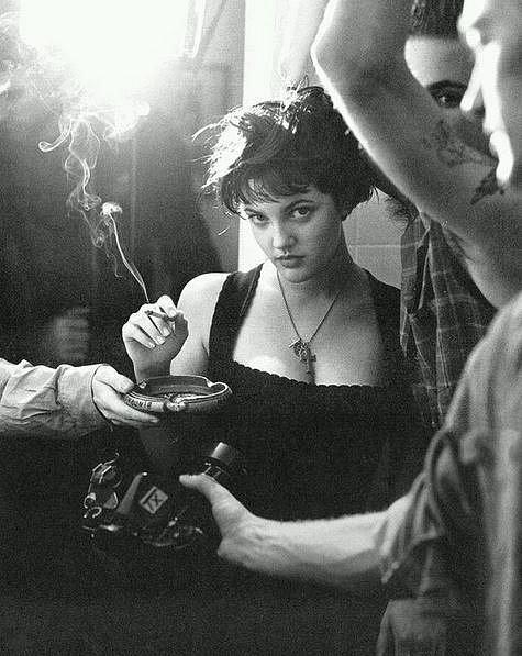 Drew Barrymore v devadesátých letech.