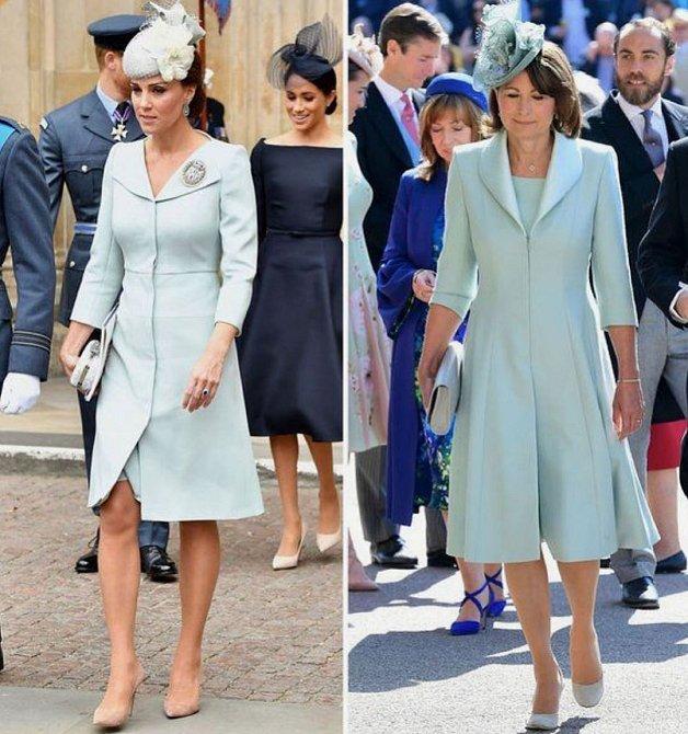 Pastelové barvy sluší Kate i Carole.