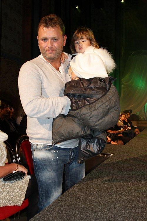 Simon Štekl s dcerou