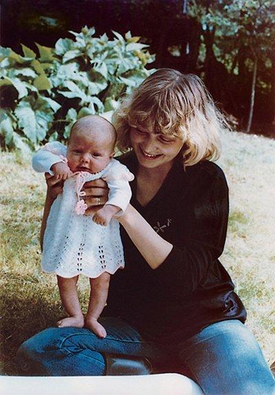 Agáta s maminkou