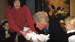 Michaela Jacksona přišel navštívit Bill Clinton.