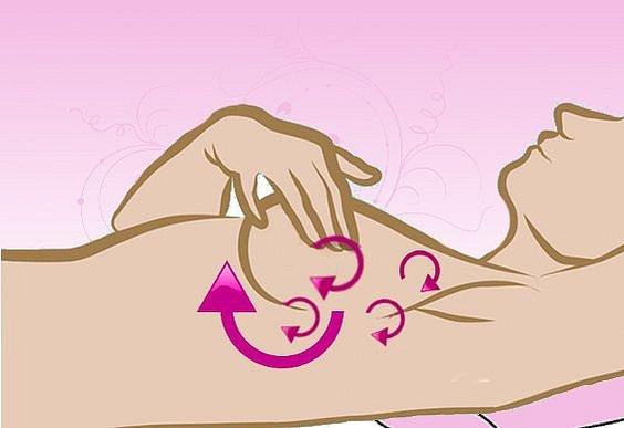 Prsa se nejlépe vyšetřují v leže s jednou rukou vzpaženou.