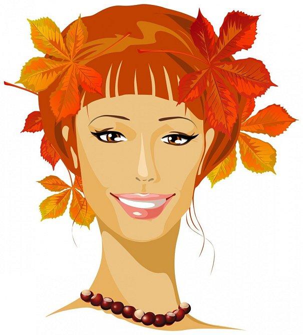 Podzimní typ má zrzavé až hnědé vlasy, tmavou pleť, tmavé oči. Může mít i pihy.