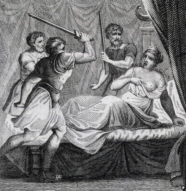 Nejděsivnější tresty, které mohla žena dostat za zapovězenou lásku - ilustrační foto - zabití v posteli