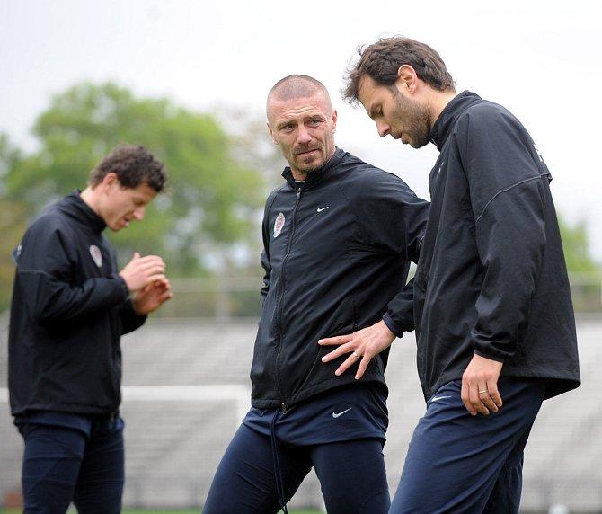 Patrik Berger s Tomášem Řepkou