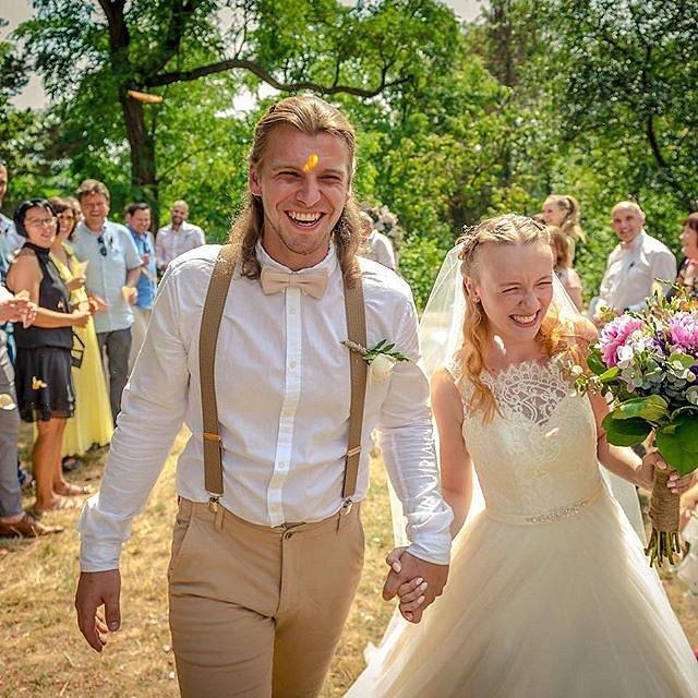 Michal Bragagnolo si s partnerkou užili svatbu v přírodě.