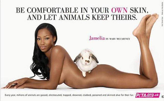 Tito slavní se svlékli pro organizaci PETA - Jamelia