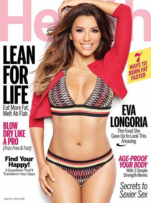 Eva Longoria na titulní stránce časopisu Health