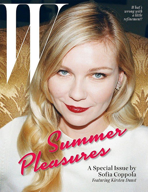 Kirsten Dunst na titulní stránce časopisu W