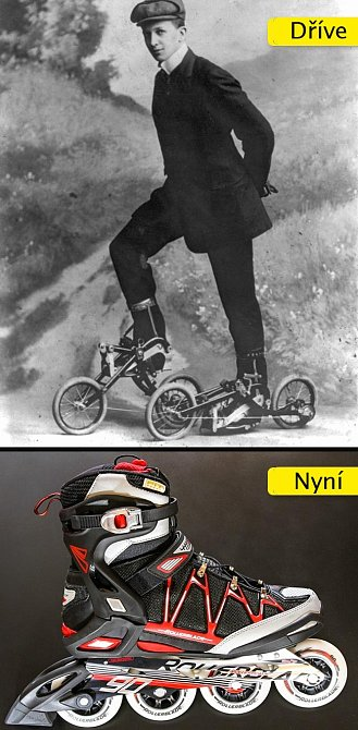 Kolečkové brusle - od dvou malých koleček připomínajících malá kola byla dlouhá cesta k moderním botám se speciálními ložisky
