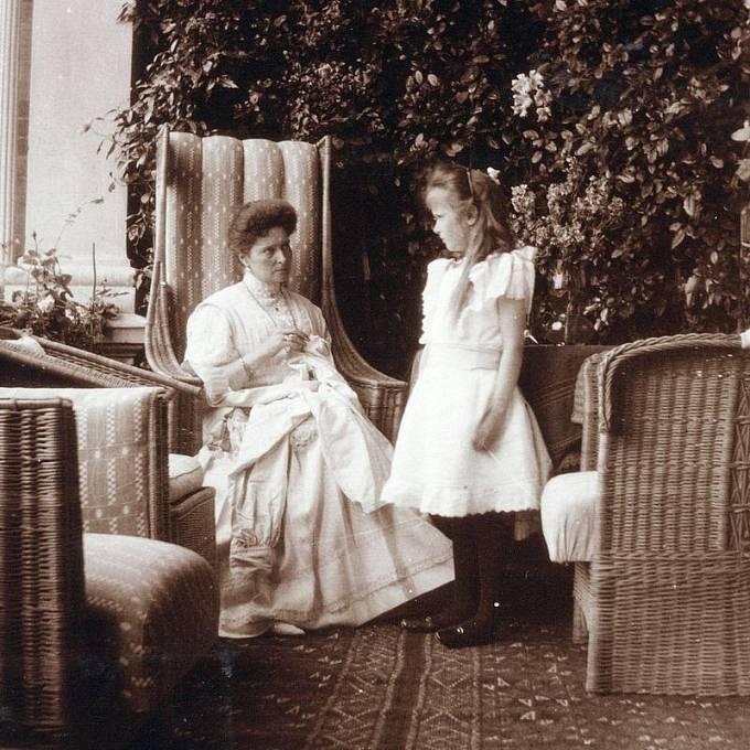 Princezna Anastázie s matkou