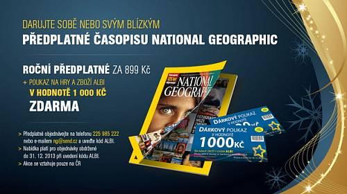 Předplatné National Geographic + poukázka na tisícovku