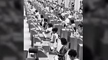 Úřad sociálního zabezpečení v americkém Baltimoru - rok 1965.