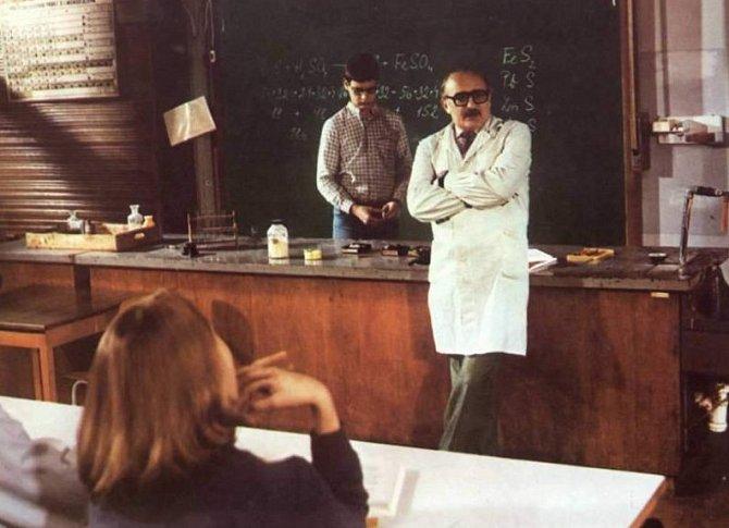Josef Somr jako profesor chemie