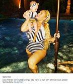 Manželka rapera Ice T Nicole Austin s jejich dcerou.