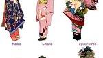 Tady je názorně vidět rozdíl mezi učednicí Maiko, společnicí Gejšou a prostitutkou Oiran.