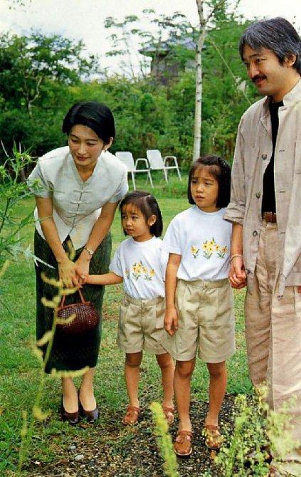 Princezna Mako s rodiči