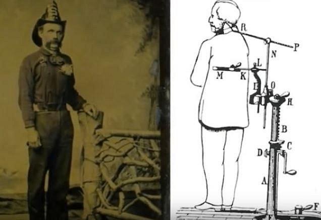 Fotografové si vyráběli různá zařízení, která měla udržet těla v normální pozici.