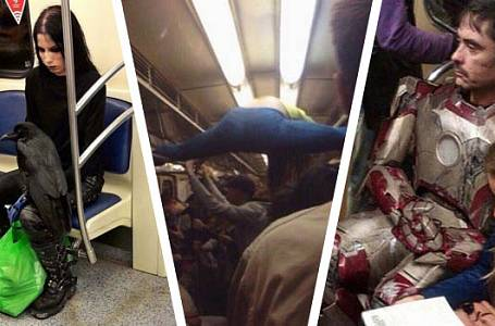 FOTOGALERIE PŘÍZRAKŮ: Tohle byste v metru ani šalině potkat nechtěli!
