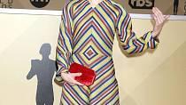 Sally Hawkins zvolila šaty s tak trochu psycho potiskem.