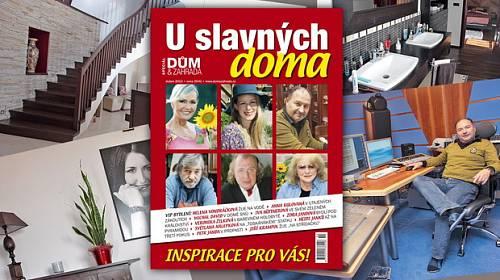 Jak bydlí české celebrity? Přečtěte si speciál časopisu Dům a zahrada