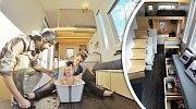 Mladý pár geniálně využil každý kousek vlastnoručně postaveného pojízdného domku za 600 tisíc!