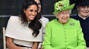 Královna Alžběta II. a Meghan