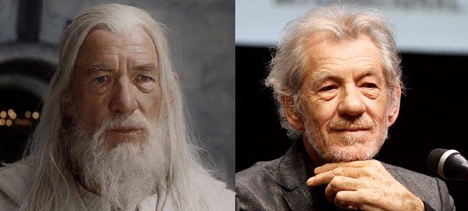 Čaroděje Gandalfa ztvárnil ostřílený filmový vlk Ian McKellen, který kromě dobráka Gandalfa hraje hlavně padoucha Magneta v X-Menech.