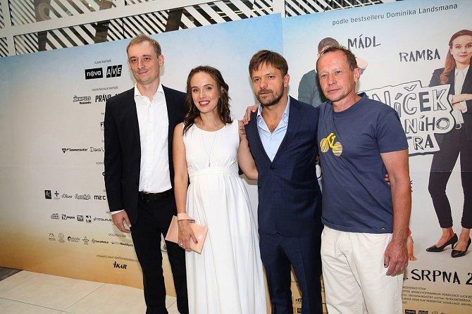 Tereza Ramba na premiéře filmu Deníček moderního fotra.