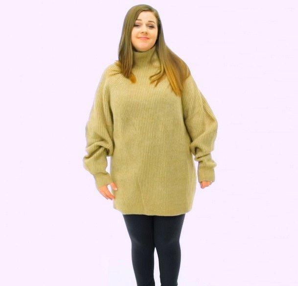 Chápeme, že oversized svetry teď letí, ale s nimi hodně opatrně. Jasně, že na štíhlých ženách vypadají legíny a svetr po babičce super. Na silnějších bohužel ne.