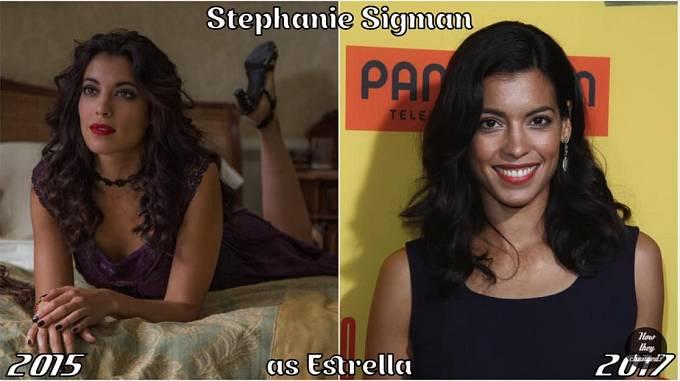 Herečka Stephanie Sigman coby Estrella