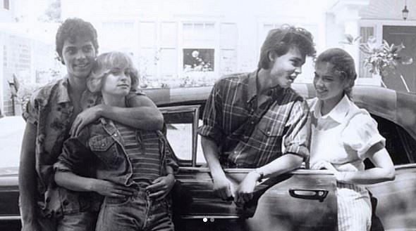 Johny Depp a kolegové z natáčení Noční múry z Elm Street