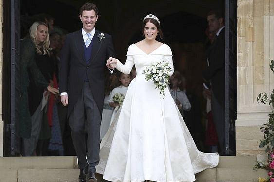 Princezna Eugenie při svatbě v roce 2018.