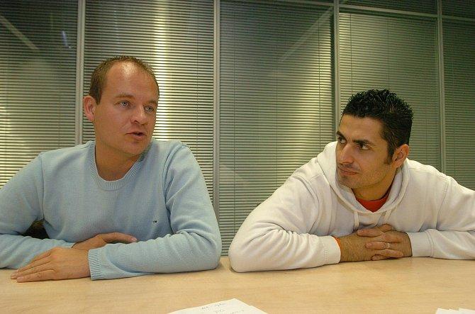 Vladko s bývalým přítelem Romanem