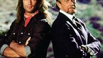 """Dva největší rivalové - Reno Raines a Donald """"Dutch"""" Dixon - tedy Lorenzo Lamas a Stephen J. Cannell"""