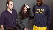 Basketbalista LeBron James uvedl vévodkyni do rozpaků.
