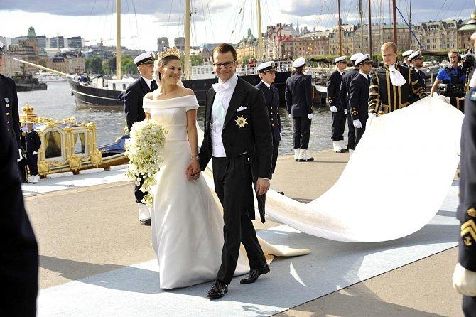 Švédská princezna si vzala dlouholetého přítele Daniela