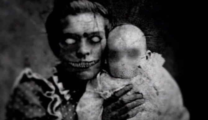 Fotografie, které měla zachytit matku s dcerou.